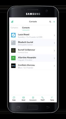 Vue des contacts, optimisation clientèle numefy
