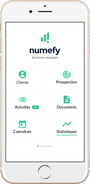 Numefy, interface des services