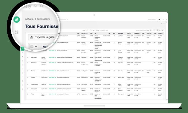 interface logiciel achat vente