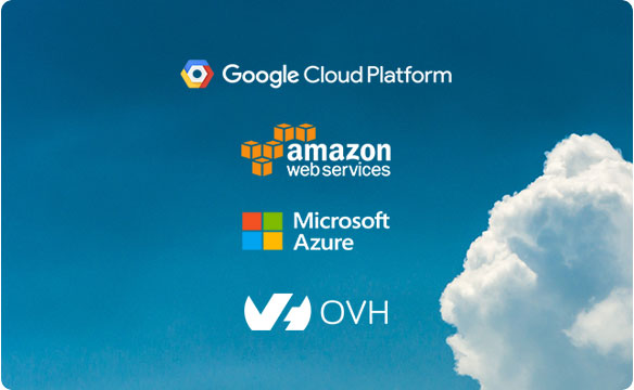 Logo Cloud platform amazon Microsoft ovh