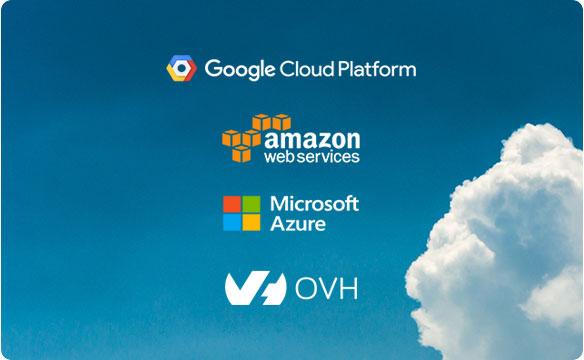 Logo Cloud platform amazon Microsoft ovh